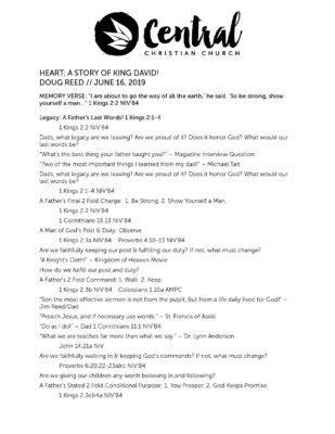 6 16 19 Sermon Outline - Central Christian Church